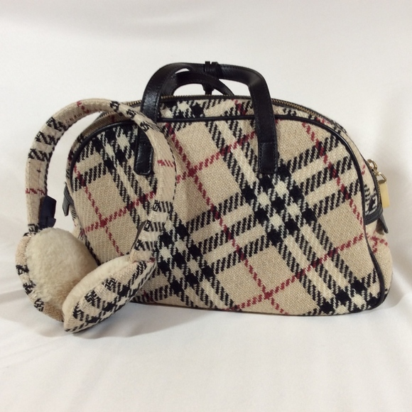 Burberry Handbags - Burberry Bag & Earmuffs